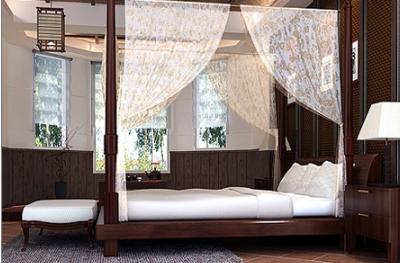 柚木地面窗帘搭配